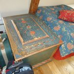 wonderful hand painted antique chest