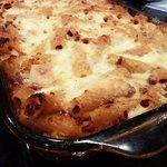 Baked rigatoni pasta