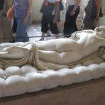 Hermaphrodite endormi, made from Greek marble