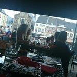 Terras markt view