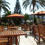 pool seating/bar area