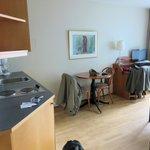 kitchette/living room of 1 bedroom