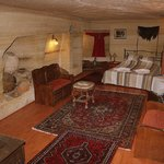 Oriental Cave Room, decorated by traditional carpets and kilims