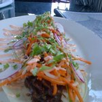 Stupendously delicious shredded duck confit tacos.