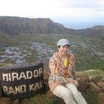 En  el Crater  Rano Kau