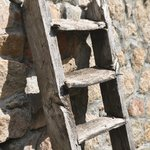 An old ladder gives Casa Funtana character.