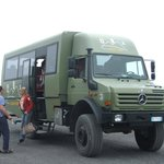 Ex army vehicle we went up Vesuvius on