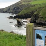 Llangrannog couple of miles from Fynnon Fendigaid