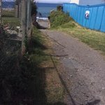 footpath from apartments to sea walk