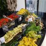 cold cooked vegetables in main buffet