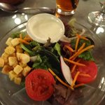 Salad with dressing.