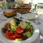 Greek Salad with Soft Local Cheese
