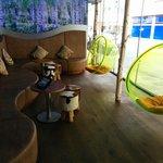 Der Loungebereich im Hotel