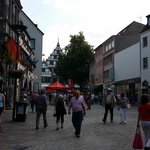 Blick zum Paderborner Rathaus
