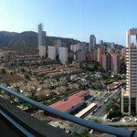 vistas desde el balcón planta 15