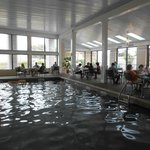 La piscina, área de desayuno
