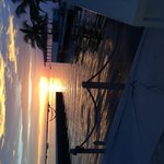 Sunset from the pool/cabana