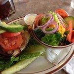 A delicious bun-less burger.
