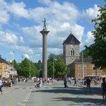 St. Olaf Statue in Torvet Market Center