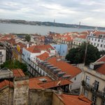 view of Lisbon from rooftop bar