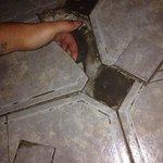 Health hazard! Bathroom floor