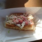 Overstuffed (that's a good thing), fresh lobster roll!