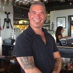 Owner/Bartender Cesar, happiest Bartender in Ptown!!