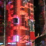 Attractive wine tower in the reception area