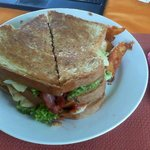 Club Sandwich with tocino (a meal for two)