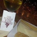 Wine,cheese,and my wine card!