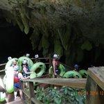 Preparing to enter cave