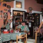 santorini mou taverna on main road amazing atmosphere and food