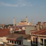 Hagia Sophia from the rooftop dining area