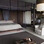 Family chalet master bedroom