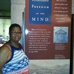 Thomas Jefferson exhibit under the monument.