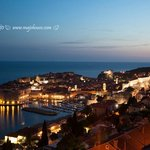 View of Dubrovnik Grad after sunset, when there is still light