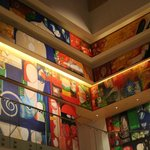 Art wall near the spa