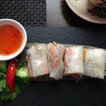 Mackerel Rice Paper Rolls