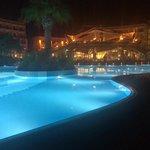 Hotel & pool at night