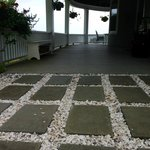 Crumbled seashell walkway