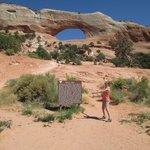 That's me at Wilson Arch, where we toured while guests at Gonzo Inn.