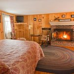 Deluxe Room with Fireplace and Private Deck
