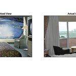 Advertised versus reality room view