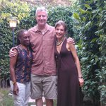 Bill de Blasio, Chirlane McCray and Maria Chiara Cristofori in the little pritty Santa Margherit