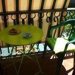 stanza verde - balcone