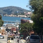 Fisherman's wharf & Alcatrazを見下ろす
