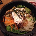 Bibimbap in a stone pot. Sooo delicious!