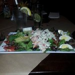 Cobb salad with lobster