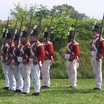 Redcoats drilling