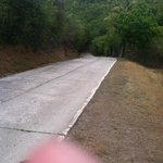 road coming back from honeymoon beach